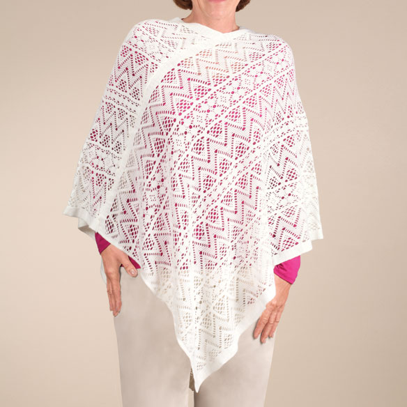 Comfort Weave Knit Poncho - View 5
