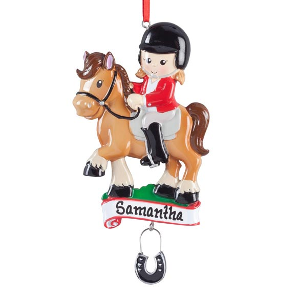Personalized Horse Rider Ornament - View 2