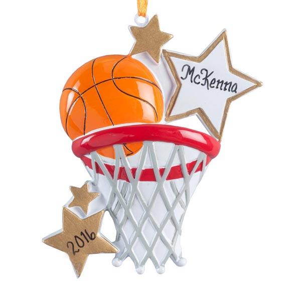 Personalized Basketball Star Ornament - View 2