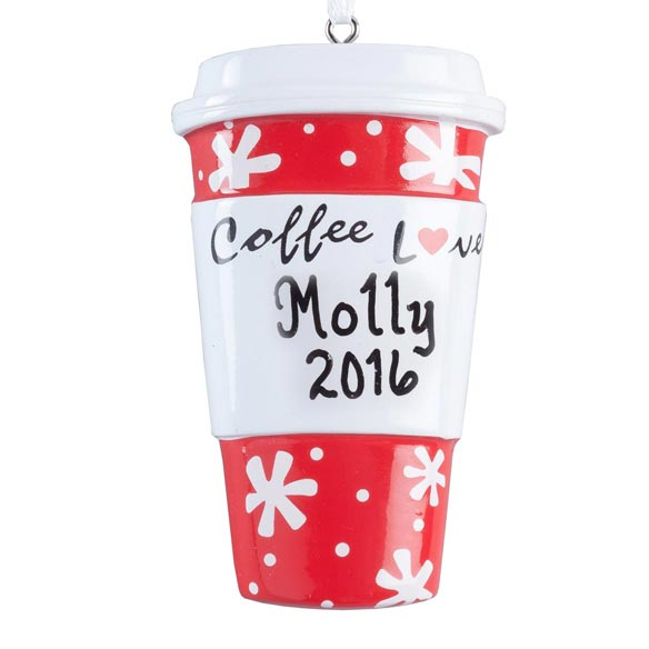 Personalized Coffee Lover Ornament - View 2
