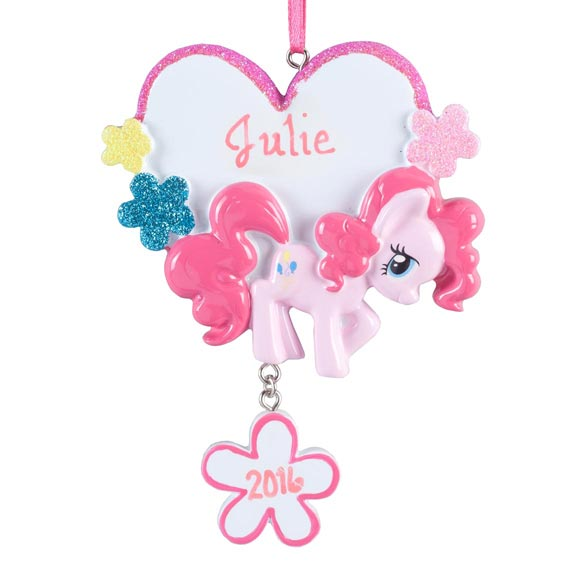 Personalized Pink My Little Pony® Ornament - View 2