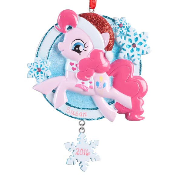Personalized Pink Santa My Little Pony® Ornament - View 2