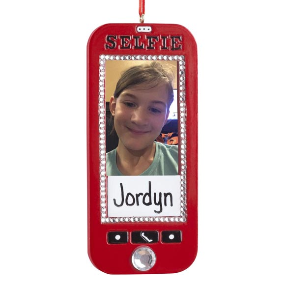 Personalized Selfie Frame Ornament - View 2