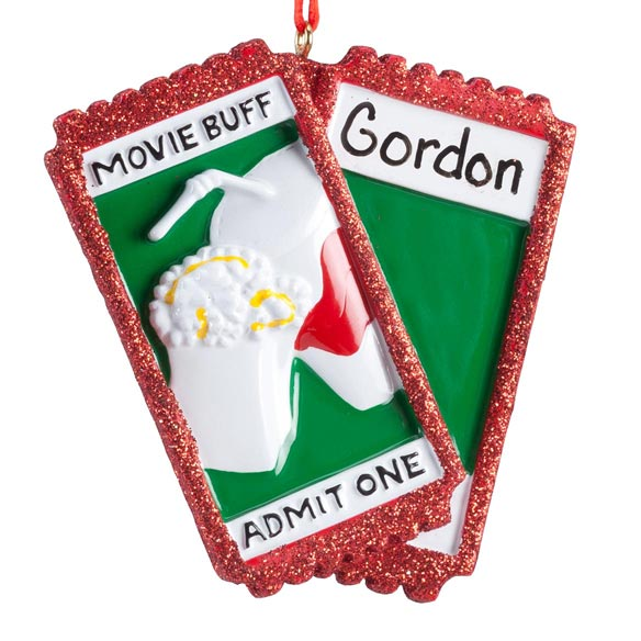 Personalized Movie Buff Ornament - View 2