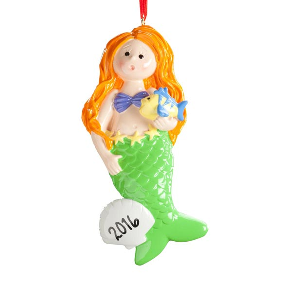 Personalized Mermaid Ornament - View 2