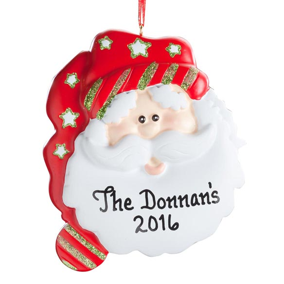 Personalized Christmas Santa Ornament - View 2