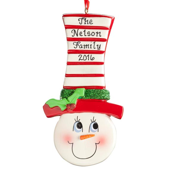 Personalized Snowman Ornament - View 2