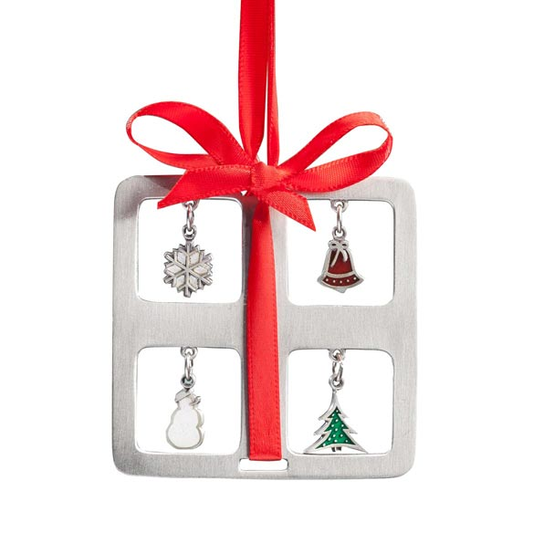 Pewter Charm Present Ornament - View 2