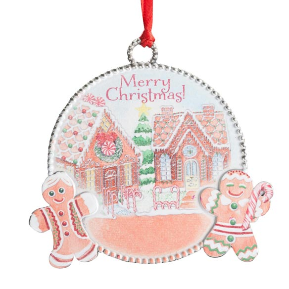 """Merry Christmas"" Gingerbread Ornament - View 2"