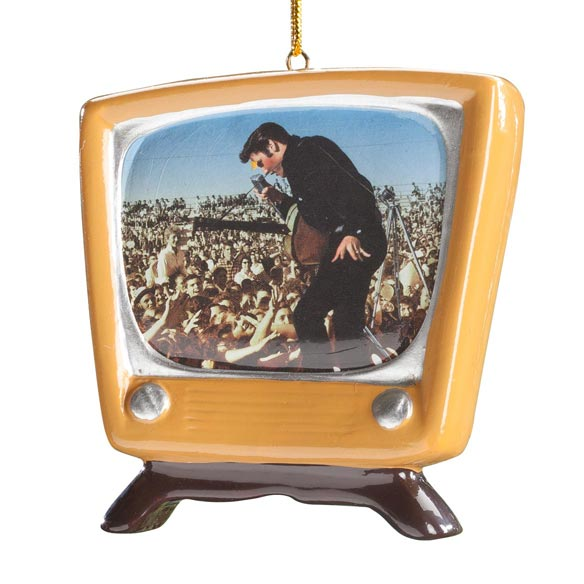 Elvis Presley™ Retro TV Ornament - View 2