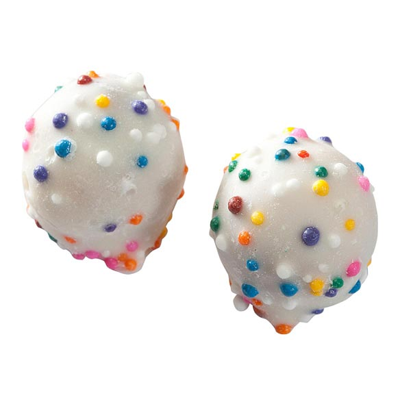 White Confection Covered Pretzel Balls - 4 oz. - View 2