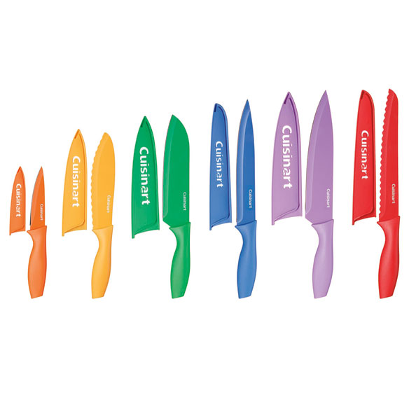 Cuisinart® 12-Piece Color Knife Set with Blade Guards - View 2