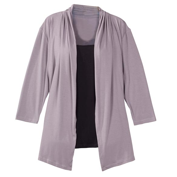 Two-in-One Top with 3/4-Length Sleeves - View 3