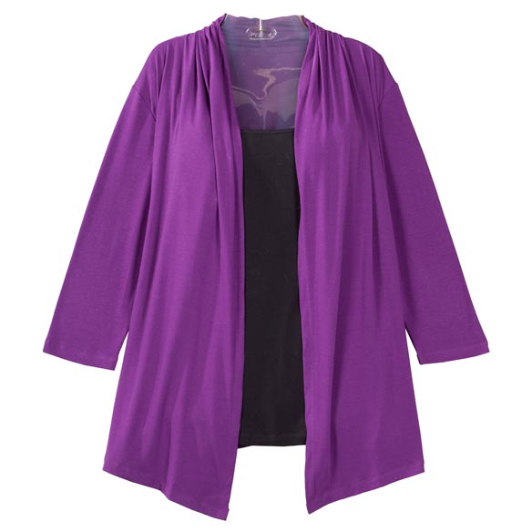 Two-in-One Top with 3/4-Length Sleeves - View 4