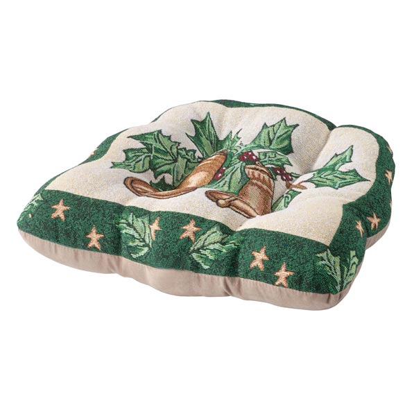 Reversible Holiday Bells Chair Pad - View 2
