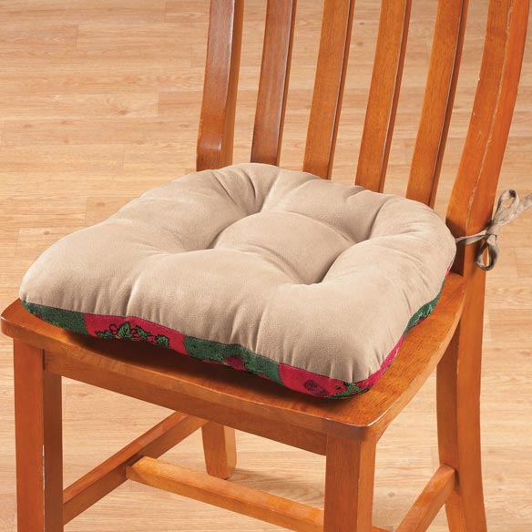 Reversible Holiday Checkers Chair Pad - View 3