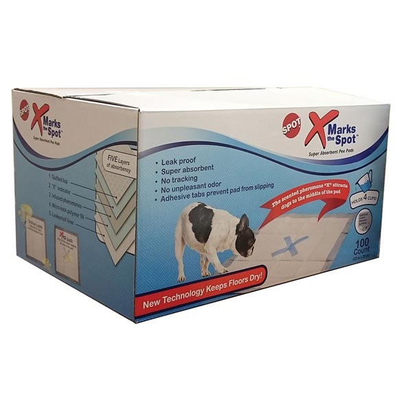 X Marks the Spot Puppy Pads, 100 count - View 2