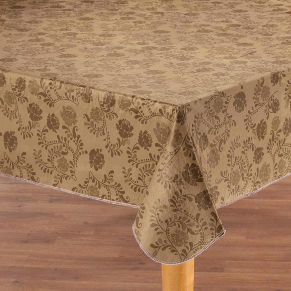 the kathleen vinyl table cover wipeable tablecloth