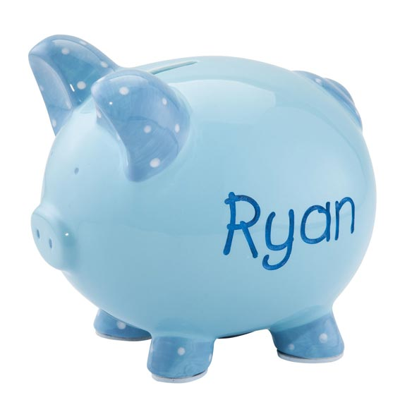 Personalized Etched Children's Piggy Bank - View 2