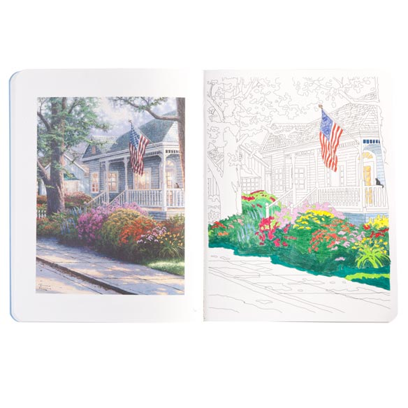 Thomas Kinkade Coloring Book - View 2