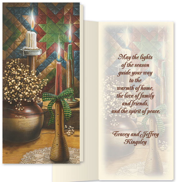 Candlelight Christmas Card Set/20 - View 1