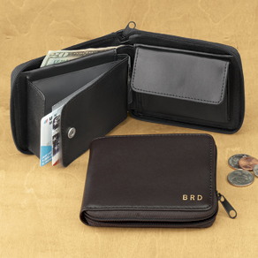 Leather Zipper Wallet - View 1