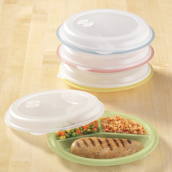 Divided Plates And Food Storage Containers - Set Of 4 - View 1