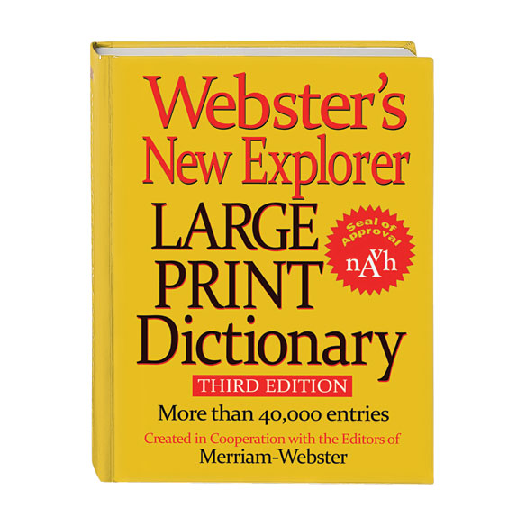 Websters® Large Print Dictionary
