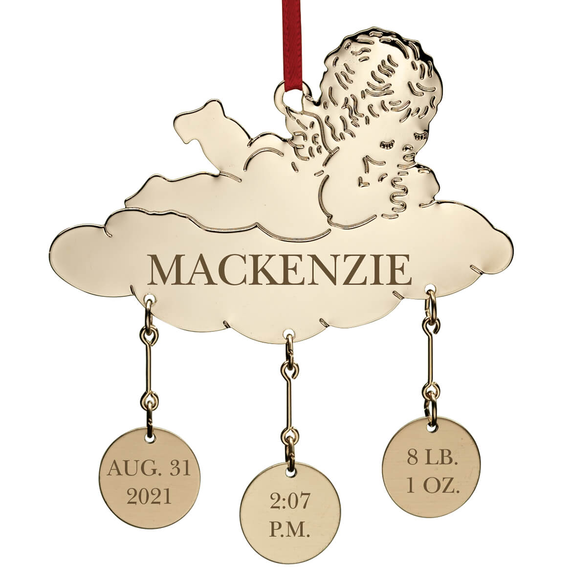 Personalized Baby Christmas Ornament - Baby Ornament ...