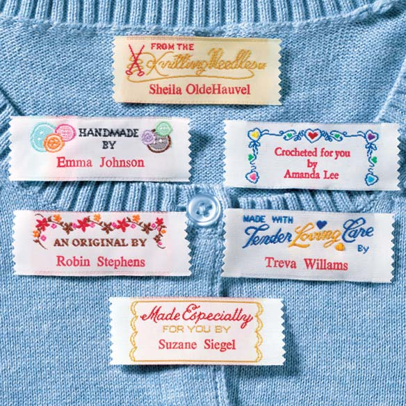 Personal Handiwork Labels - Pack Of 20