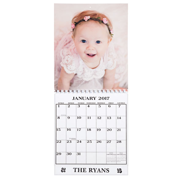 Single Copy Personalized Photo Calendar