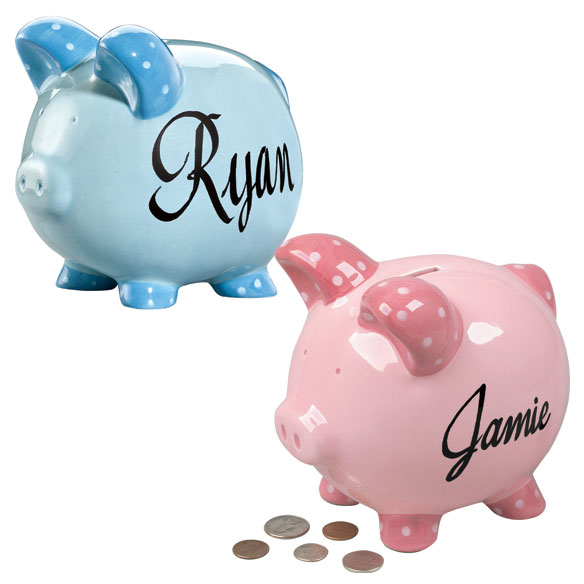 Personalized Kids Piggy Bank - View 1