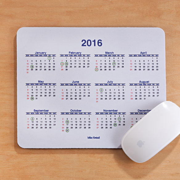 Calendar Mouse Pad - View 1
