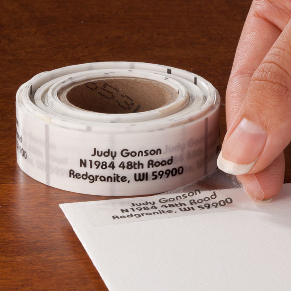 Clear Address Labels Roll - Roll of 250 - View 1