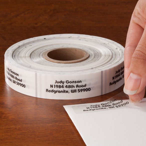 Clear Address Labels - Roll of 1000