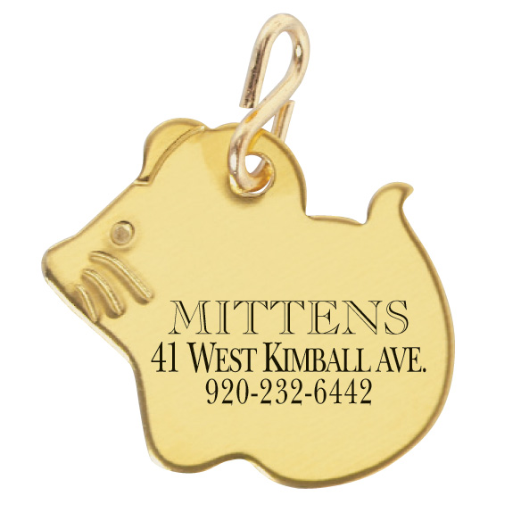 Mouse Shaped Pet ID Tag