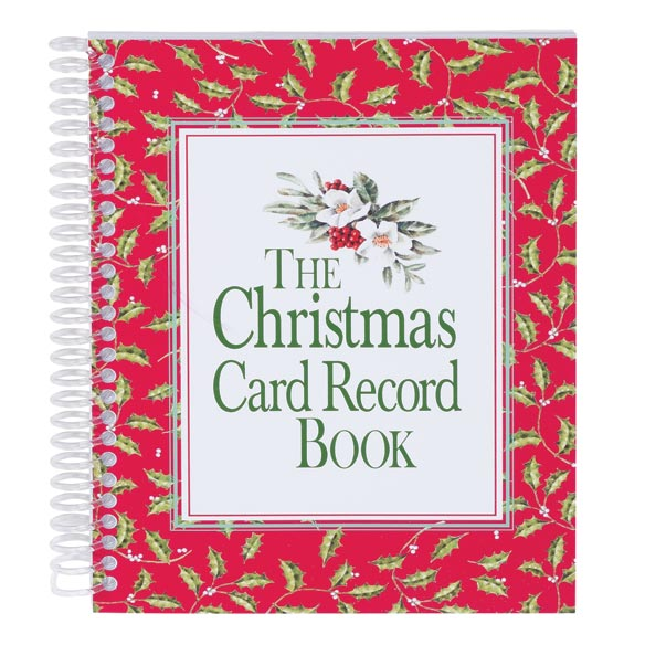 Christmas Card Record Book - View 1