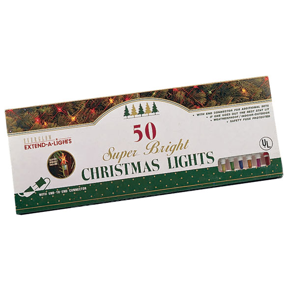 50 Count Multi Color Christmas Tree Lights