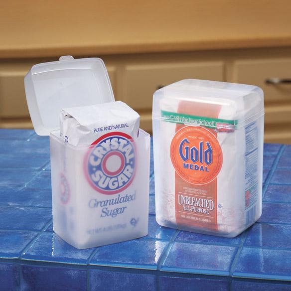 food storage container sugar flour saver set air tight lid kitchen pantry holder ebay. Black Bedroom Furniture Sets. Home Design Ideas