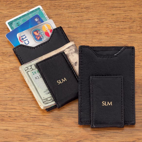 Personalized Mens Front Pocket Wallet With Money Clip