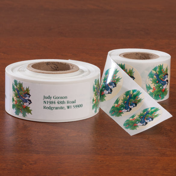 Winter Chickadee Address Labels And Seals Set - View 1