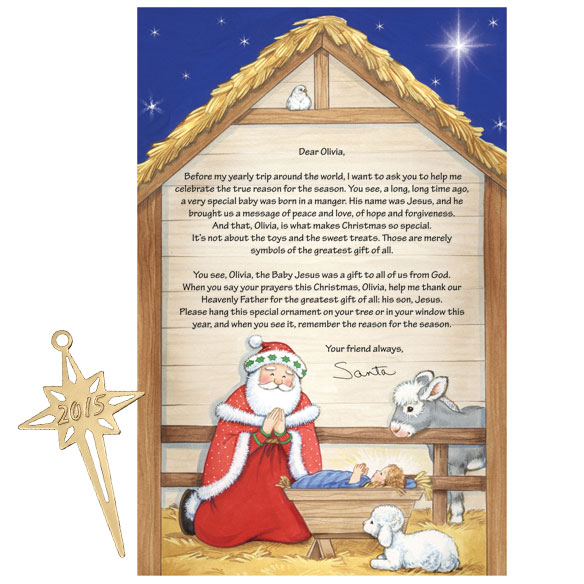 Inspirational Personalized Letter From Santa - View 1