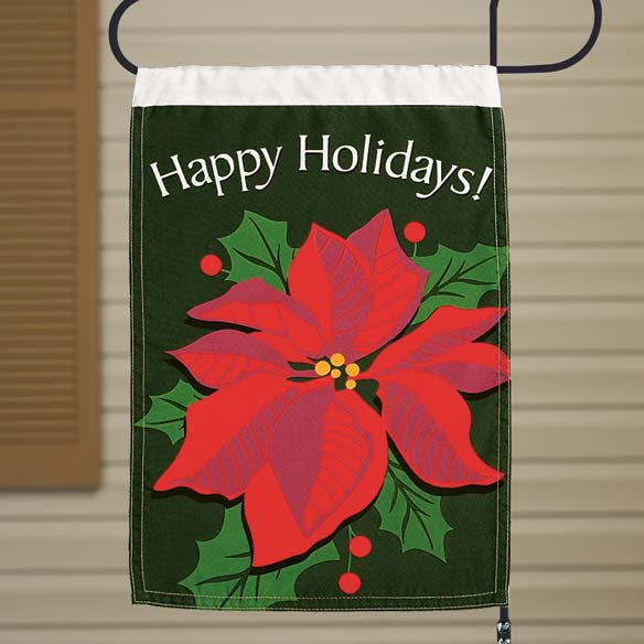 Poinsettia Garden Flag
