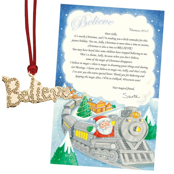 Personalized Letter From Santa To Child