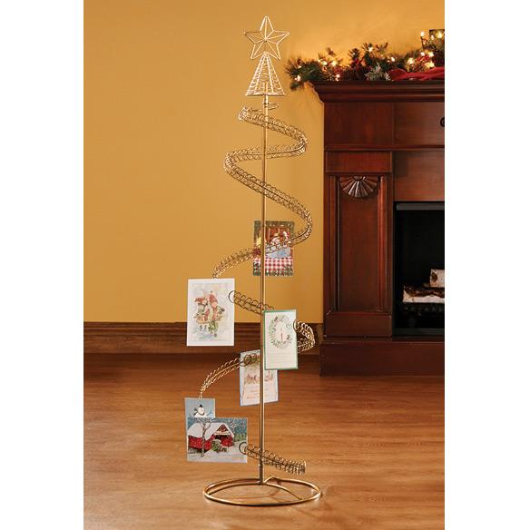 Christmas Tree Card Holder - Spiral Tree Card Holder - Miles Kimball