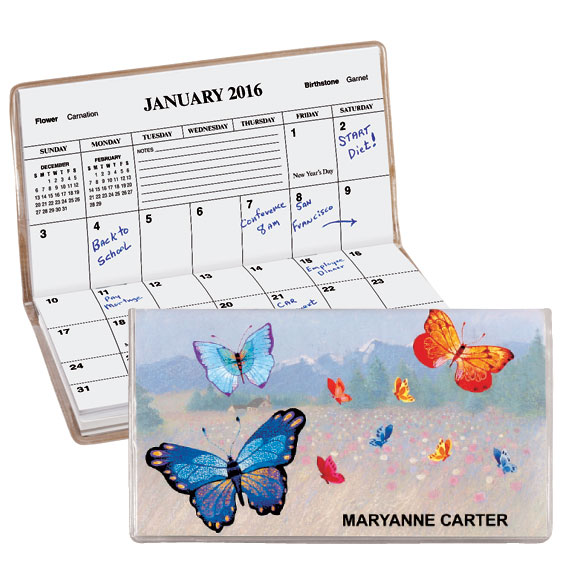 Butterfly Personalized Pocket Planner - View 1