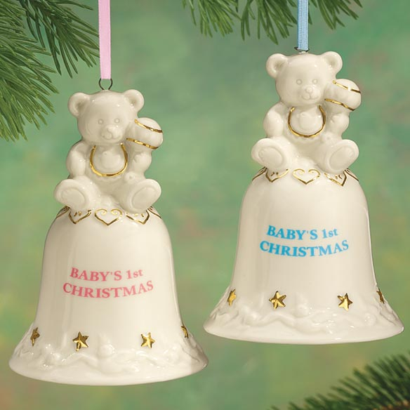 Personalized Baby's First Christmas Bell Ornament