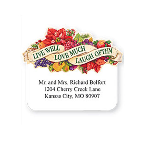 Personalized Live Love Laugh Die Cut Labels