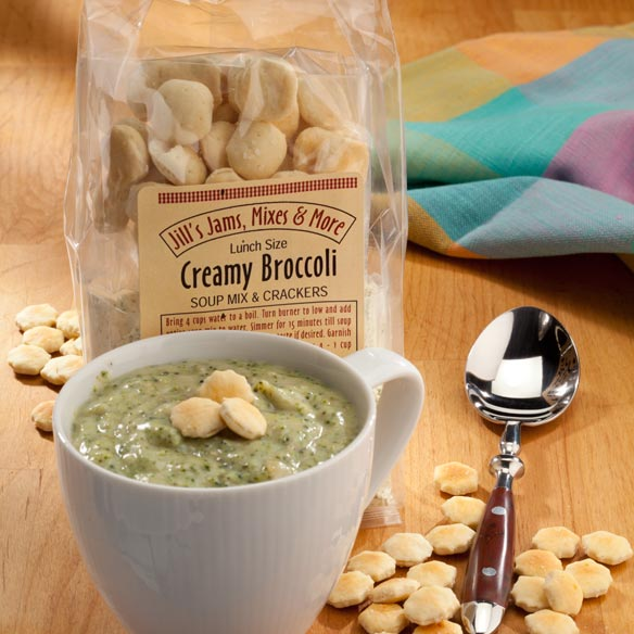 Luncheon Creamy Broccoli Soup Mix & Crackers