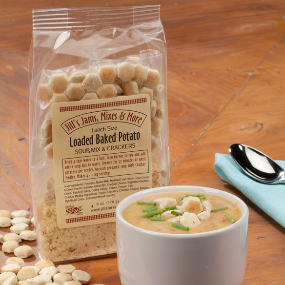 Luncheon Loaded Potato Soup Mix & Crackers